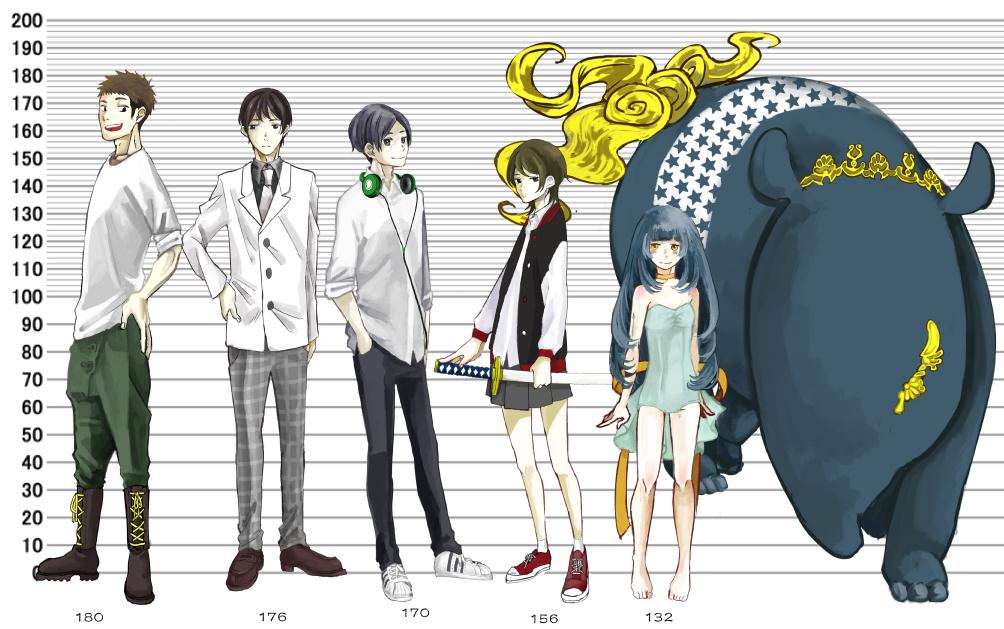 5人組のキャラクター クリエイターへの直接発注で高品質なイラストを