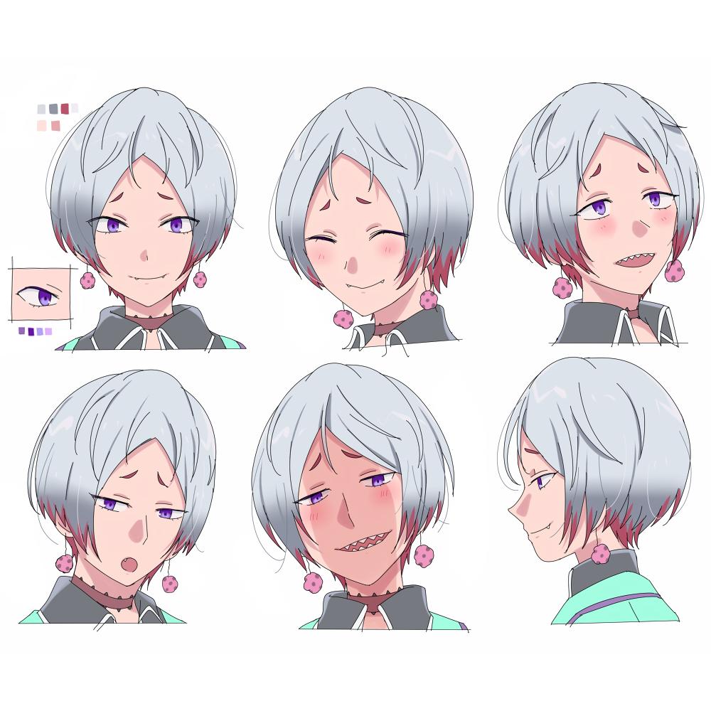 アニメ表情集風イラスト スキマ スキルのオーダーメイドマーケット